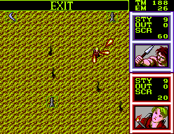 Gain Ground SEGA Master System Fighting enemies.