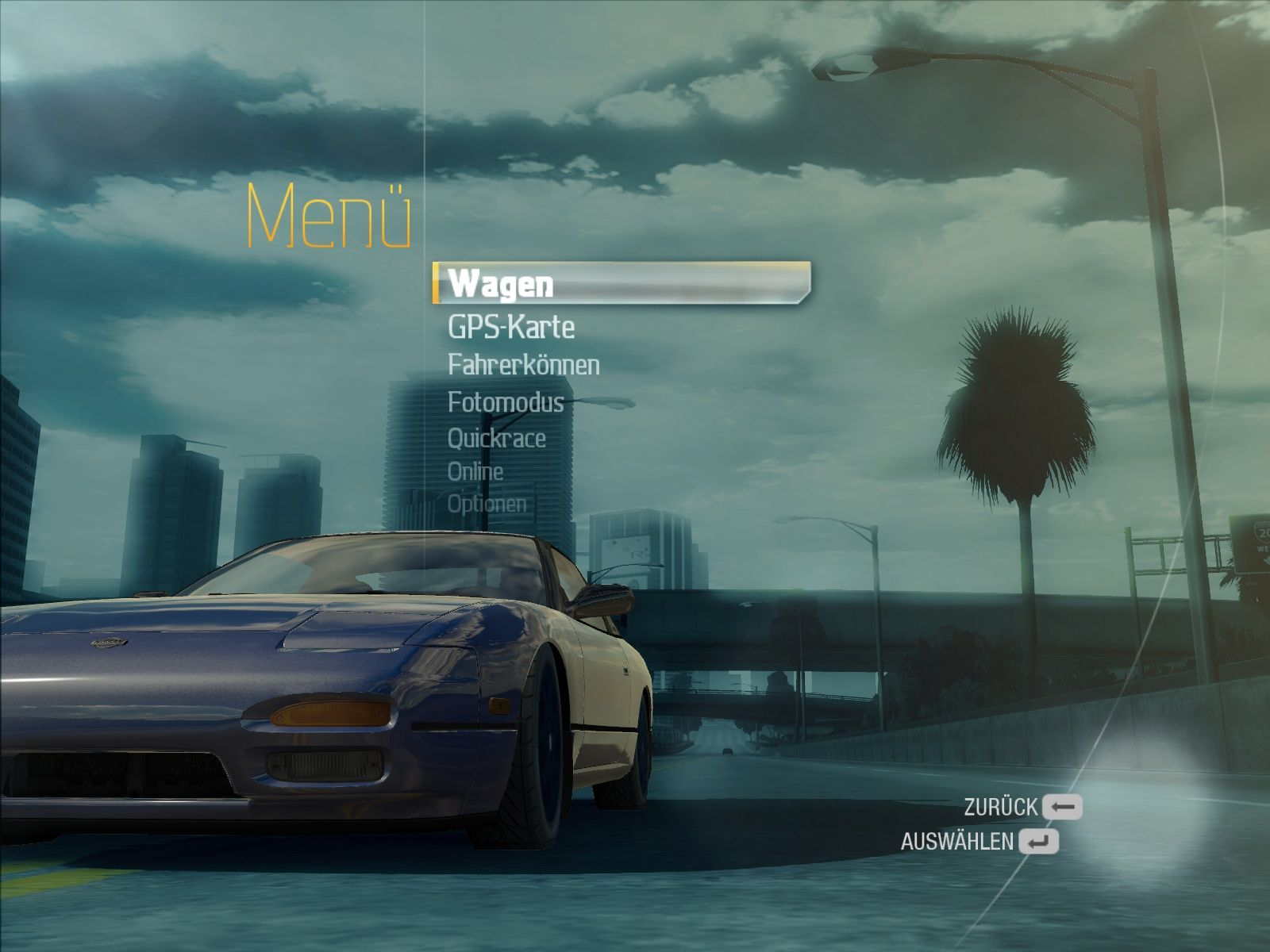 Need for Speed: Undercover Windows Main menu
