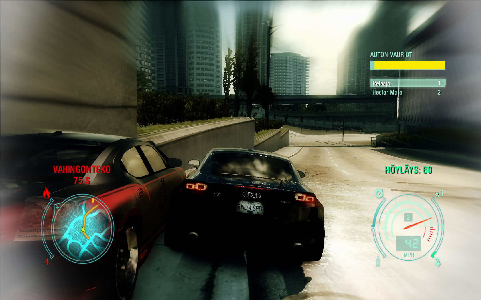 Need for Speed: Undercover Windows Damaging your opponent.