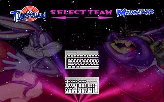 Space Jam DOS Tunesquad or Monstars. Team select.