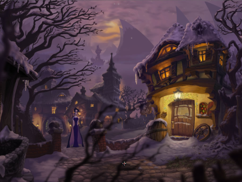 A Vampyre Story Windows The village design is stunning.