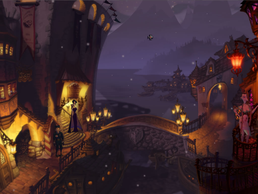 A Vampyre Story Windows The town is guarded by constables.