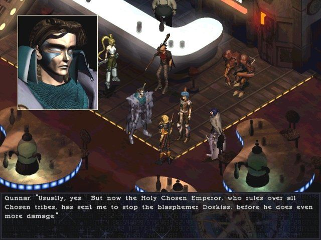Septerra Core: Legacy of the Creator Windows Chatting with Gunnar inside a bar. As far as Chosen go, he's alright