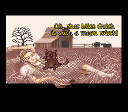 The Wizard of Oz SNES Intro cutscene