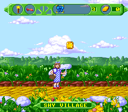 The Wizard of Oz SNES Starting out in the Shy Village.