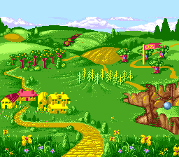 The Wizard of Oz SNES Overview of the land