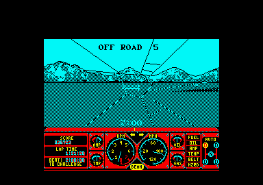 Hard Drivin' Amstrad CPC CRASH!