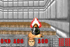 DOOM Game Boy Advance In Doom, it's fun to shoot at nothing