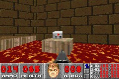 DOOM Game Boy Advance I'll walk through lava to get that medkit