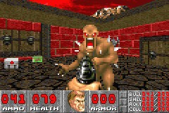 DOOM Game Boy Advance A freaky level