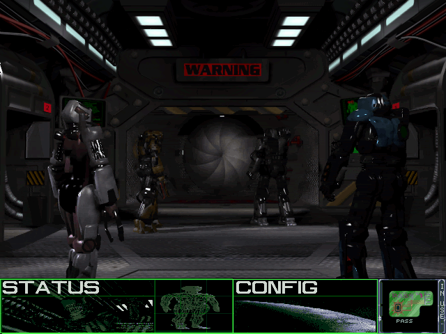 Aliens: A Comic Book Adventure DOS Your crew changes into to mech suits to explore the base.