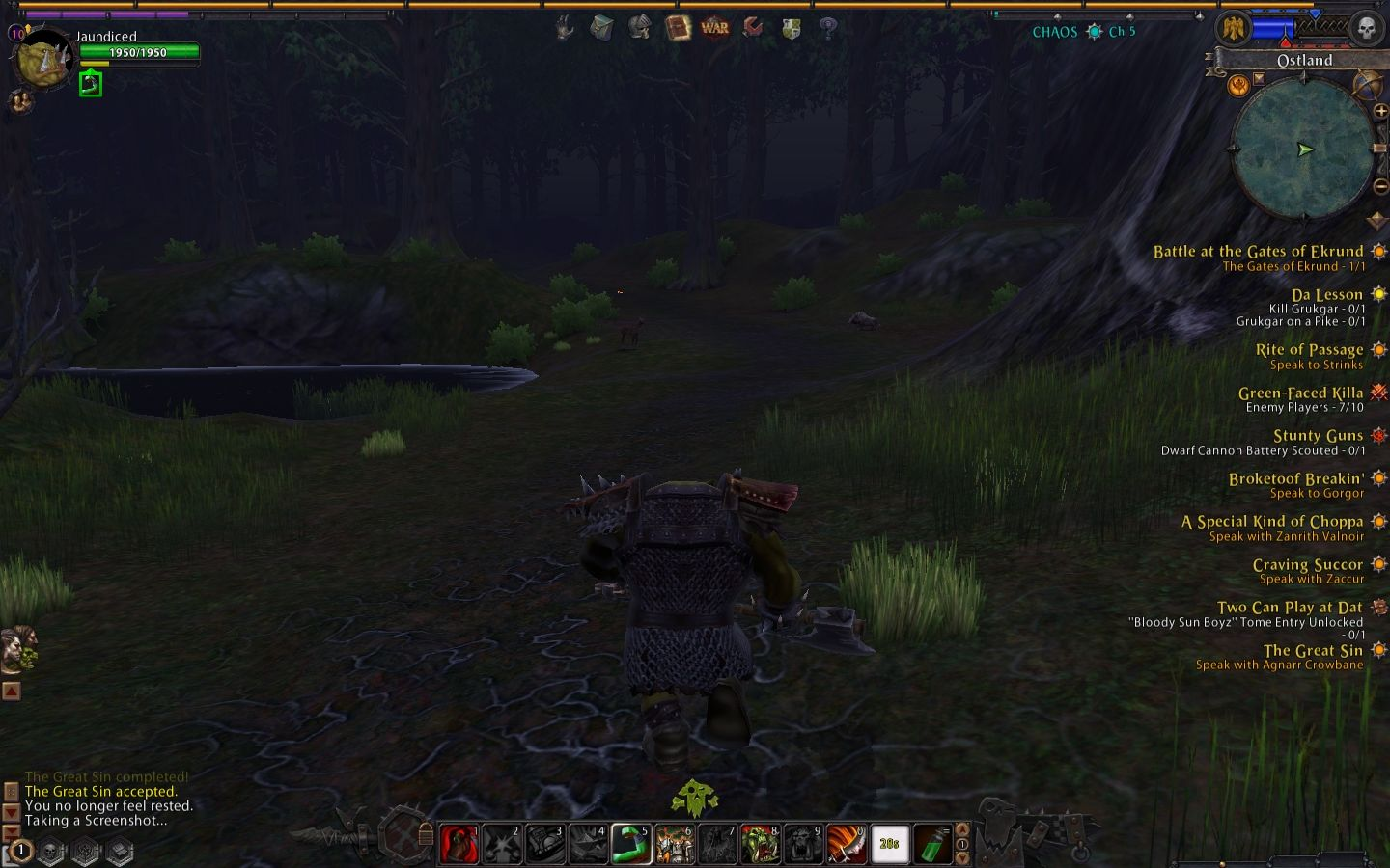 Warhammer Online: Age of Reckoning Windows Typical graphic settings to avoid play prohibitive slowdowns.