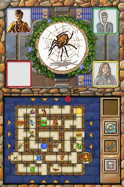 thinkSMART Labyrinth Nintendo DS Allocate the right part of the labyrinth to build the way to the hunted artifact.