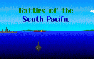 World War II: Battles of the South Pacific DOS Intro - the title
