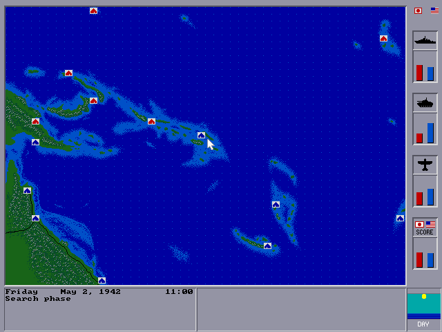 World war ii: battles of the south pacific dos strategy map