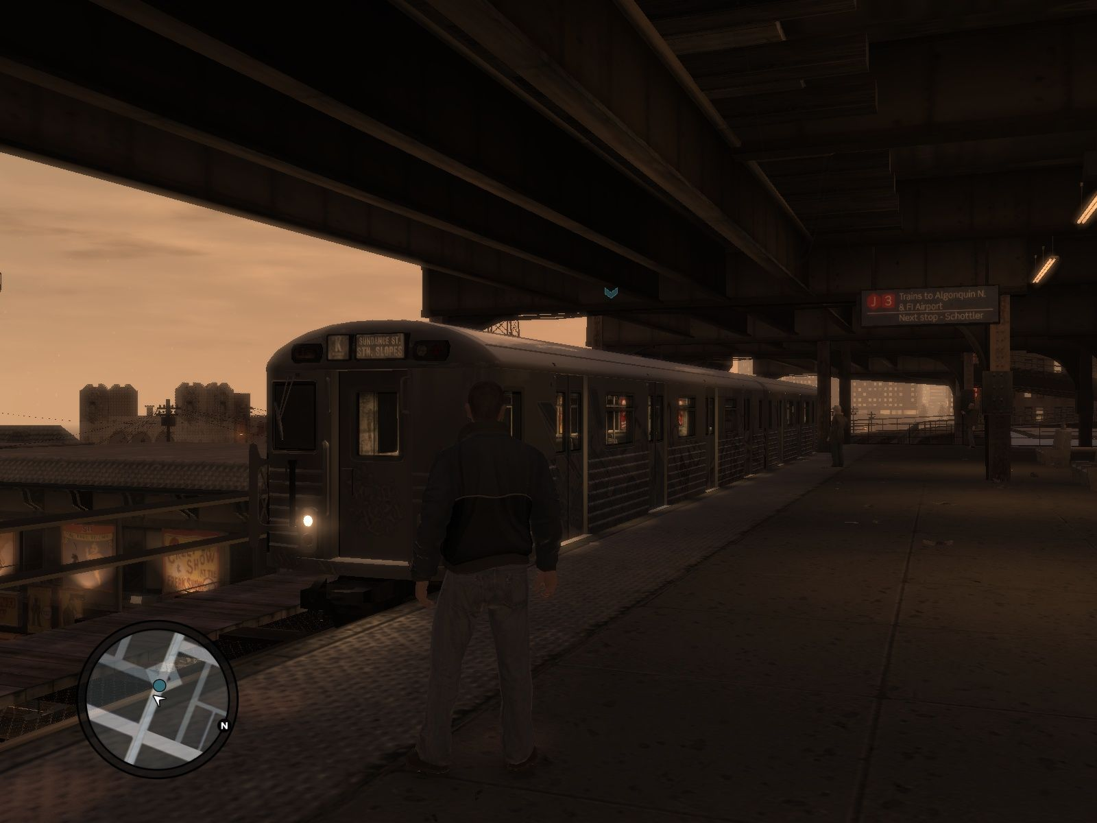 Grand Theft Auto IV Windows If you don't feel like stealing a car - take the bus or the train.