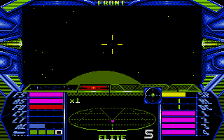 Elite Atari ST About to fly past a planet