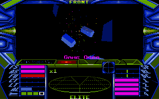Elite Atari ST Game over