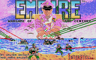 Empire: Wargame of the Century Atari ST Title screen