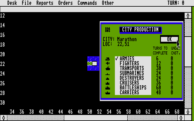 Empire: Wargame of the Century Atari ST Produce what?