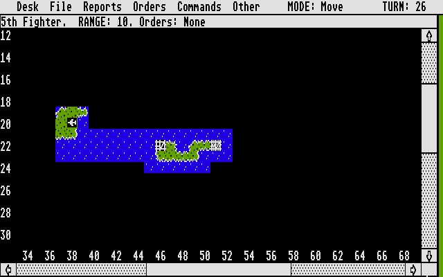 Empire: Wargame of the Century Atari ST Using air units to check out the surroundings
