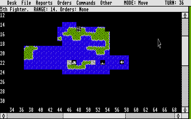Empire: Wargame of the Century Atari ST Three different units on the map at the same time