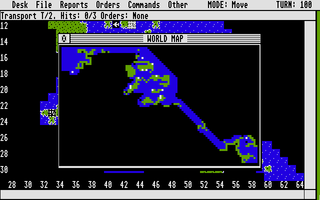 Empire: Wargame of the Century Atari ST World map