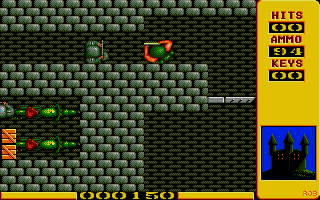 Into the Eagle's Nest Atari ST Shooting at an enemy soldier