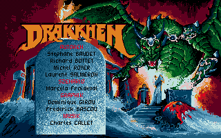 Drakkhen Atari ST Title screen