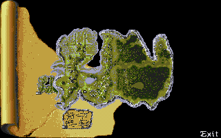 Ishar 2: Messengers of Doom Atari ST Map of the local island