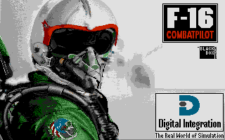 F-16 Combat Pilot Atari ST Title screen