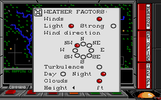 F-16 Combat Pilot Atari ST Weather factors