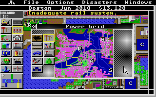 SimCity Atari ST Power map
