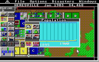 SimCity Atari ST Graphs