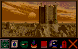 Dragon Lord Atari ST Ametrins castle and menu