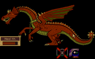 Dragon Lord Atari ST Inspecting a dragon