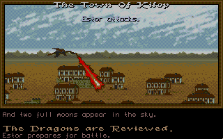 Dragon Lord Atari ST Attacking a town