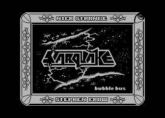 Starquake Atari 8-bit Title screen