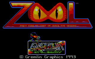 Zool Atari ST Second title screen