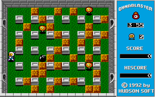 Bomberman Atari ST Bomb placed