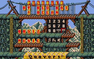 Pushover Atari ST Main menu