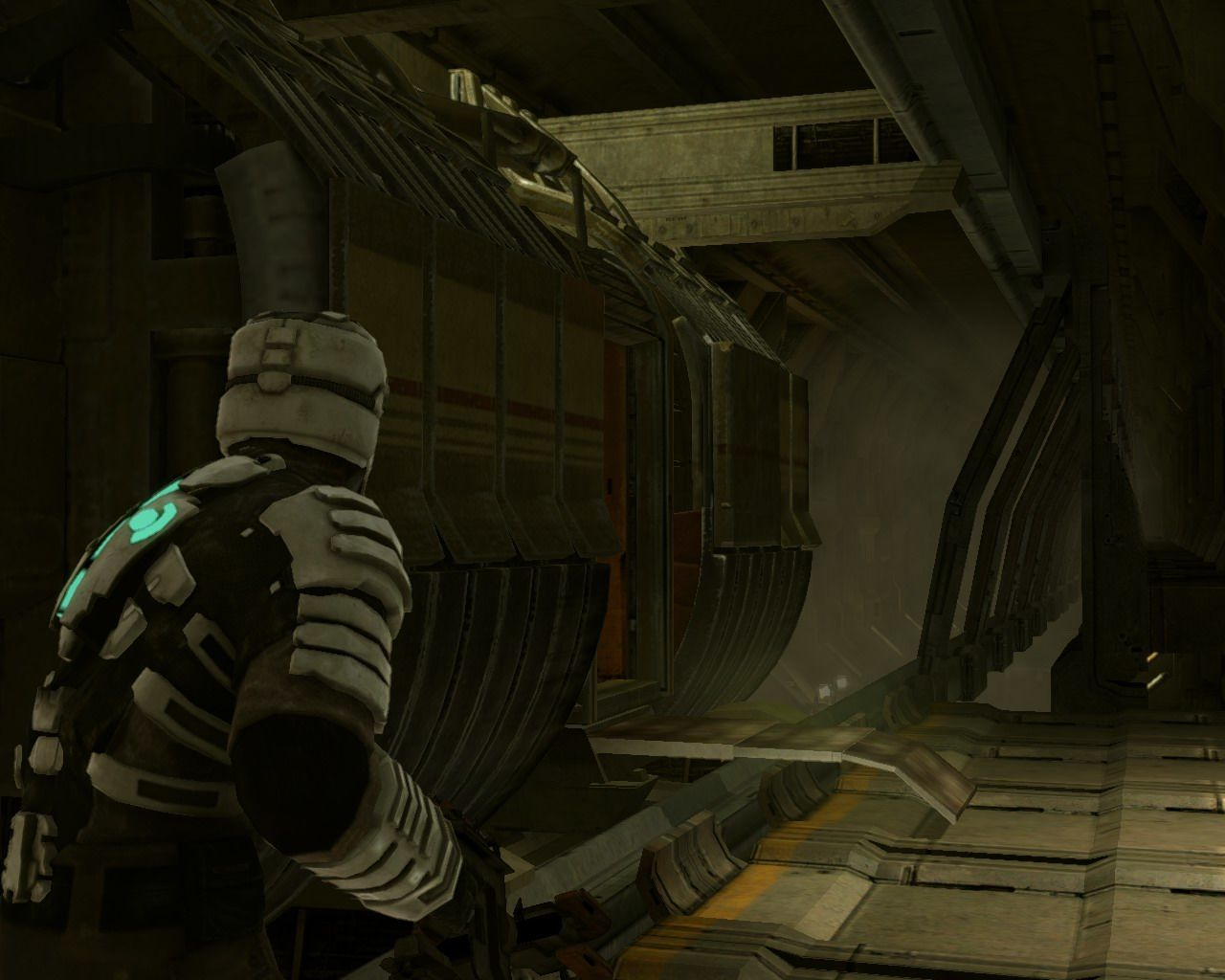 Dead Space Windows Near the tram in the suit of 6th level (available in the game played after the finish of the first sequence of gameplay).