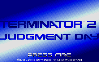 Terminator 2: Judgment Day Atari ST Title screen.
