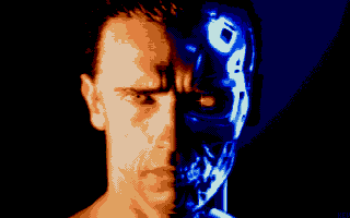 Terminator 2: Judgment Day Atari ST Close-up of terminator.