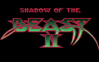 Shadow of the Beast II Atari ST Title screen.