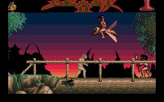 Shadow of the Beast II Atari ST Enemy flying with bug.