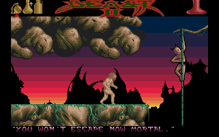Shadow of the Beast II Atari ST Enemy trying to stop you.