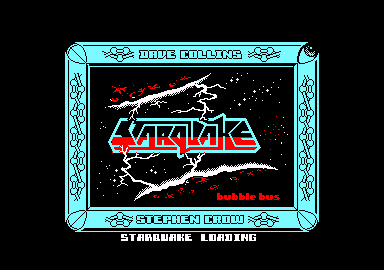 Starquake Amstrad CPC Title screen