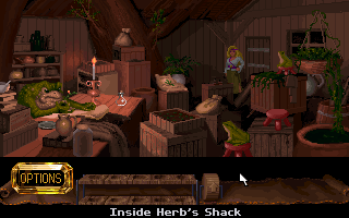 The Legend of Kyrandia: Hand of Fate DOS Inside Herb's shack