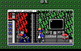 Batman: The Caped Crusader DOS Bat-defeated by the Penguin! (EGA)